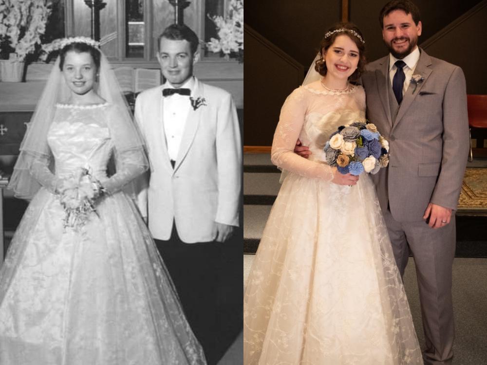 Она надела бабушкино платье из 1956 и выглядела роскошно! Как вещь «на один раз» превратилась в семейную реликвию, фото № 2