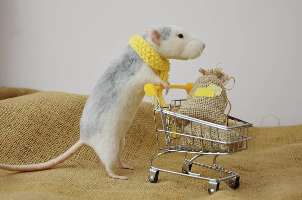 Life Of Outstanding Mice: Felted Rodents Go To Stores, Play Sports & Take Photos, фото № 8