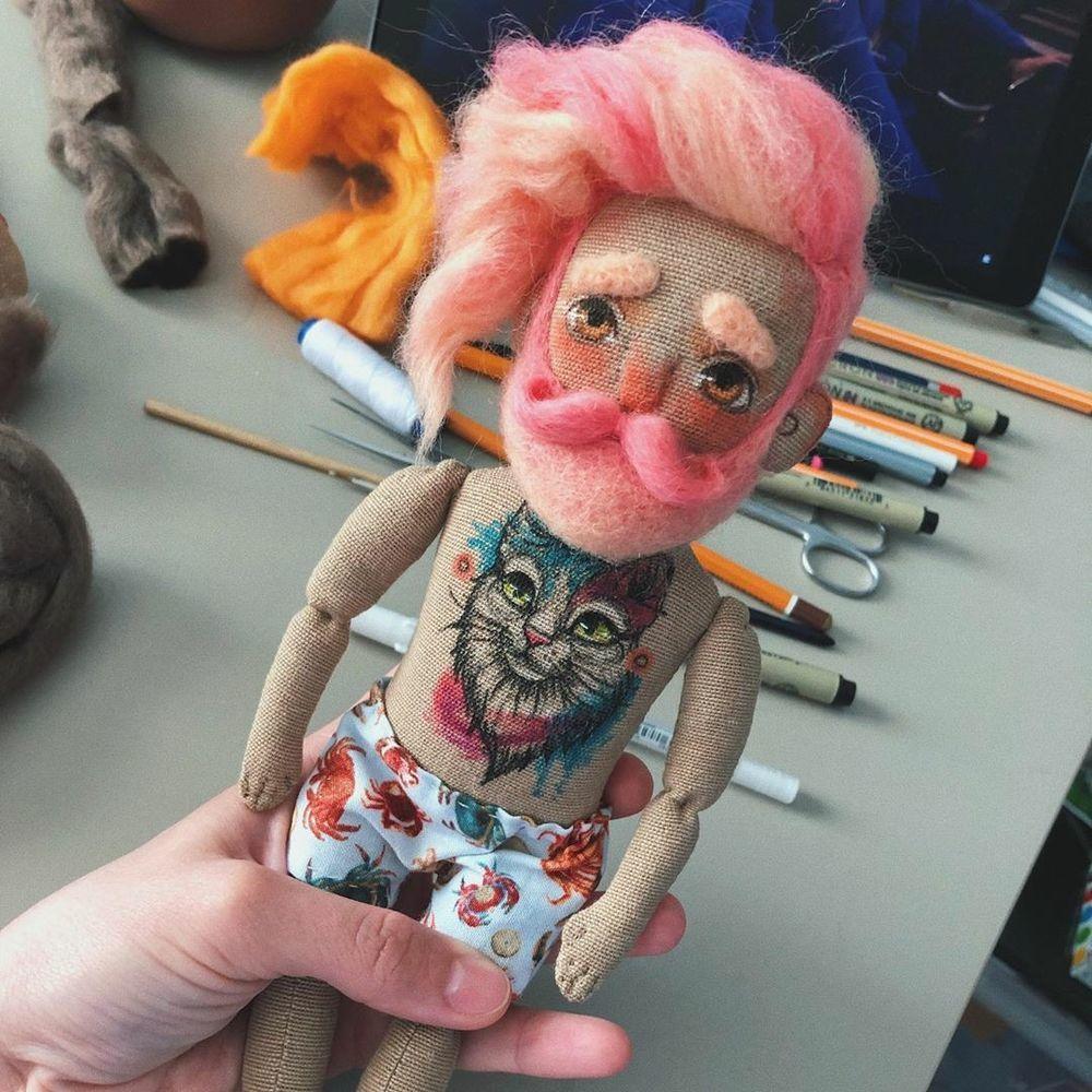 Те, о которых всегда забывают: текстильные куклы-бородачи от Kristina Rockanddoll – Ярмарка Мастеров<br />
