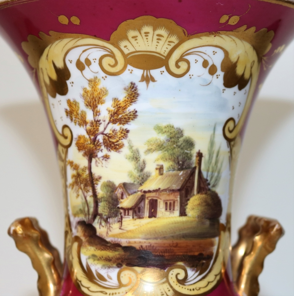 Старинная ваза,  «Coalport» , Англия, конец 19 века, фото № 6