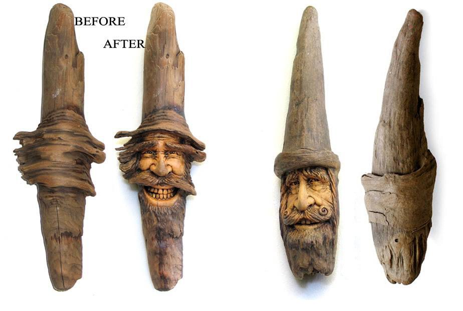 Нэнси Татл превращает коряги и обломки деревьев в сказочные деревянные скульптуры, фото № 7