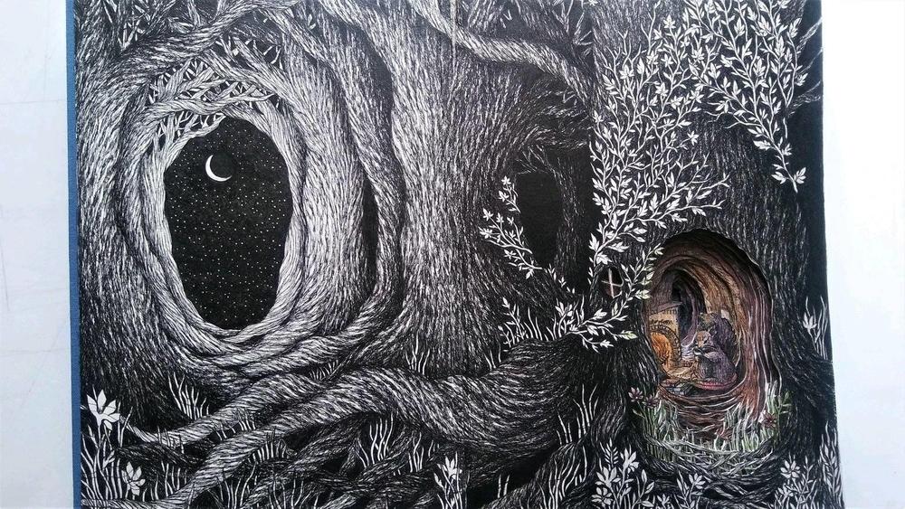 Isobelle Ouzman создаёт удивительные многослойные композиции, вырезанные из старых книг, фото № 7