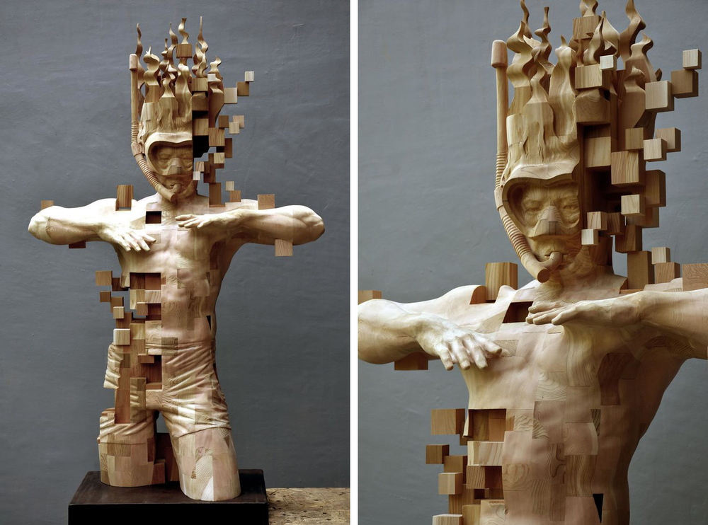 Striking Wooden Sculptures By Hsu Tung Han, фото № 9
