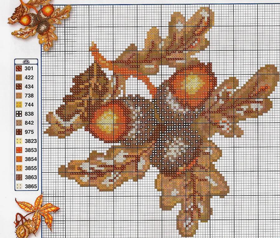 Влюбленные в осень: 50+ схем для вышивки крестиком, фото № 19