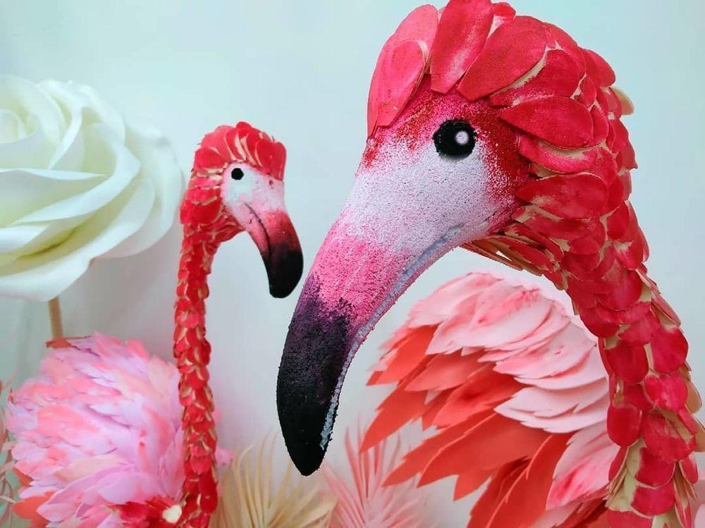 Розовый Фламинго из пеноплекса, фото № 1