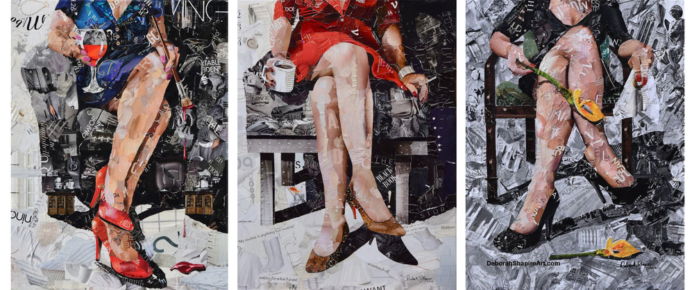 Дебора Шапиро создает коллажи из рваных кусочков бумаги и глянцевых журналов, фото № 47
