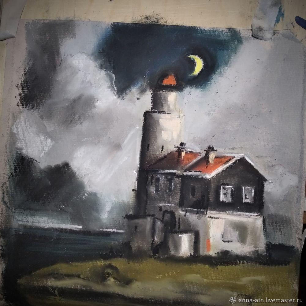 Мастер-класс картина  «Маяк»  сухой пастелью, фото № 5