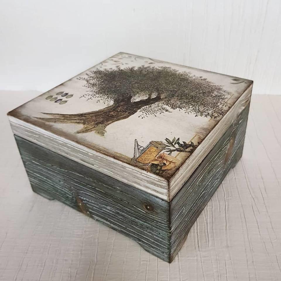 Сосновая шкатулка в стиле  «Рустик», фото № 1