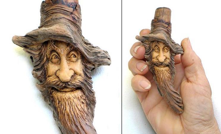 Нэнси Татл превращает коряги и обломки деревьев в сказочные деревянные скульптуры, фото № 48