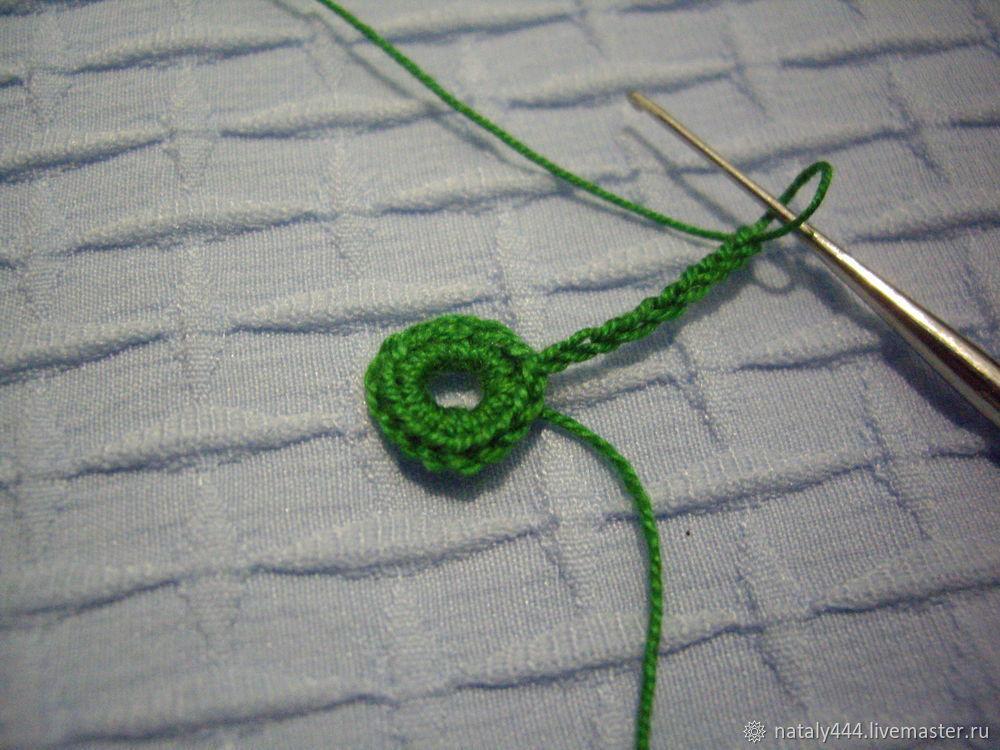 Вяжем цветок для ирландского кружева, фото № 6
