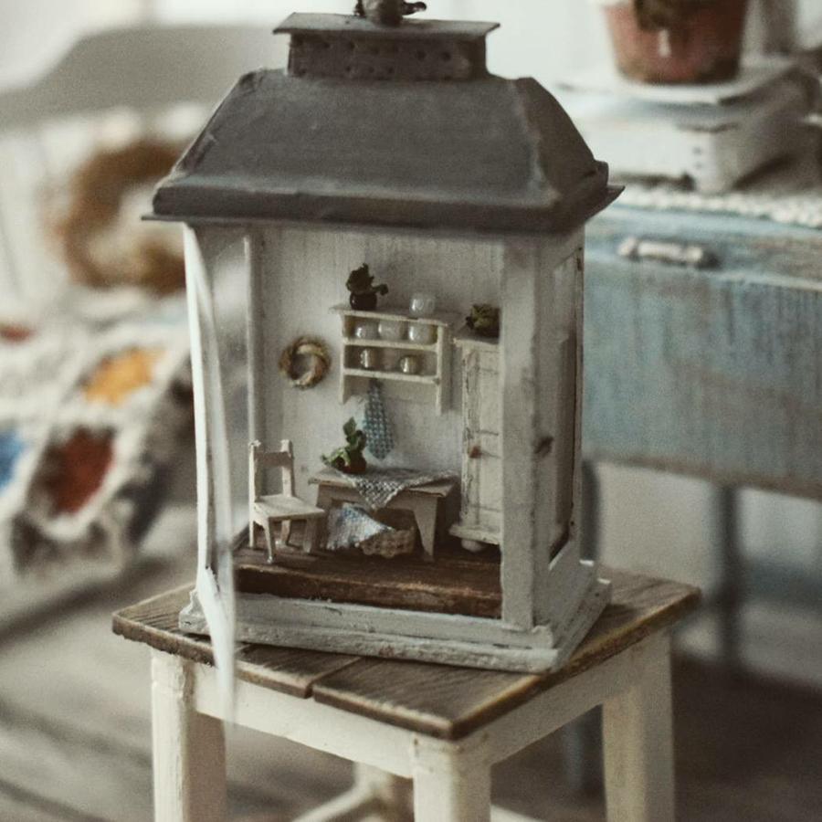 Финская художница создает дома мечты... в миниатюре, фото № 11