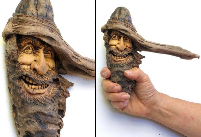 Нэнси Татл превращает коряги и обломки деревьев в сказочные деревянные скульптуры, фото № 41