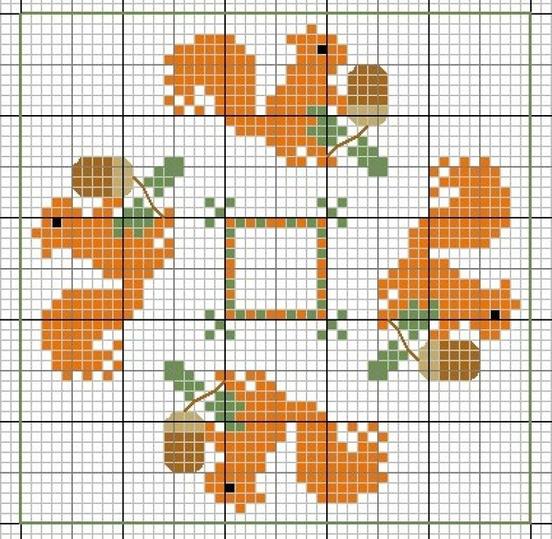 In Love With Autumn: 50+ Cross Stitch Patterns, фото № 15