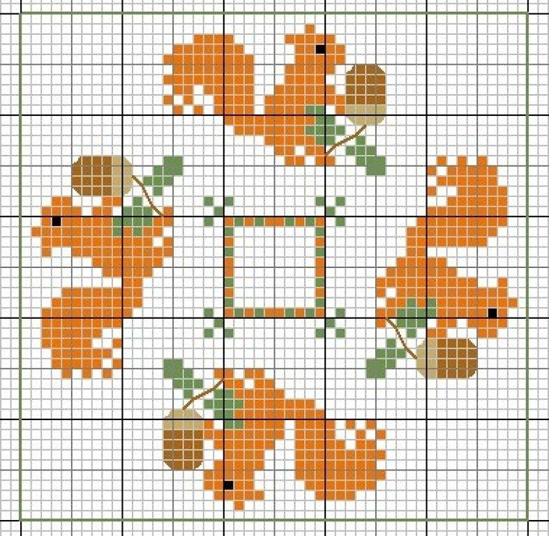 Влюбленные в осень: 50+ схем для вышивки крестиком, фото № 15