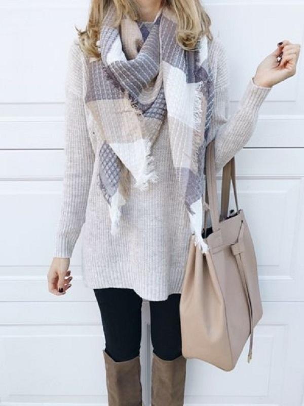 Простые способы ношения палантина в холодное время года, фото № 19