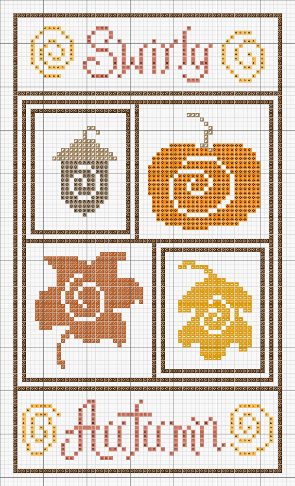 In Love With Autumn: 50+ Cross Stitch Patterns, фото № 7