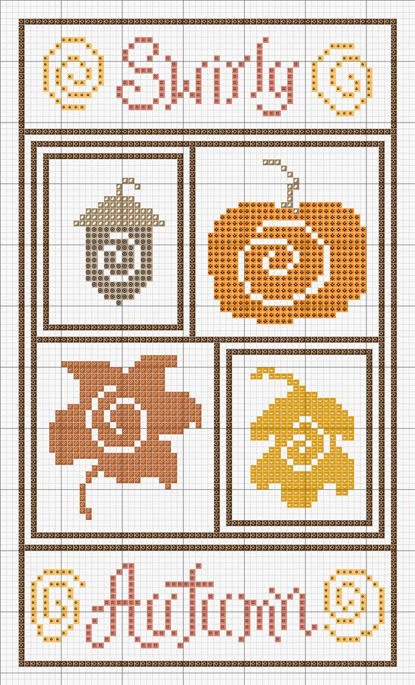Влюбленные в осень: 50+ схем для вышивки крестиком, фото № 7