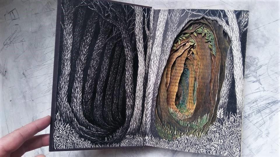 Isobelle Ouzman создаёт удивительные многослойные композиции, вырезанные из старых книг, фото № 26