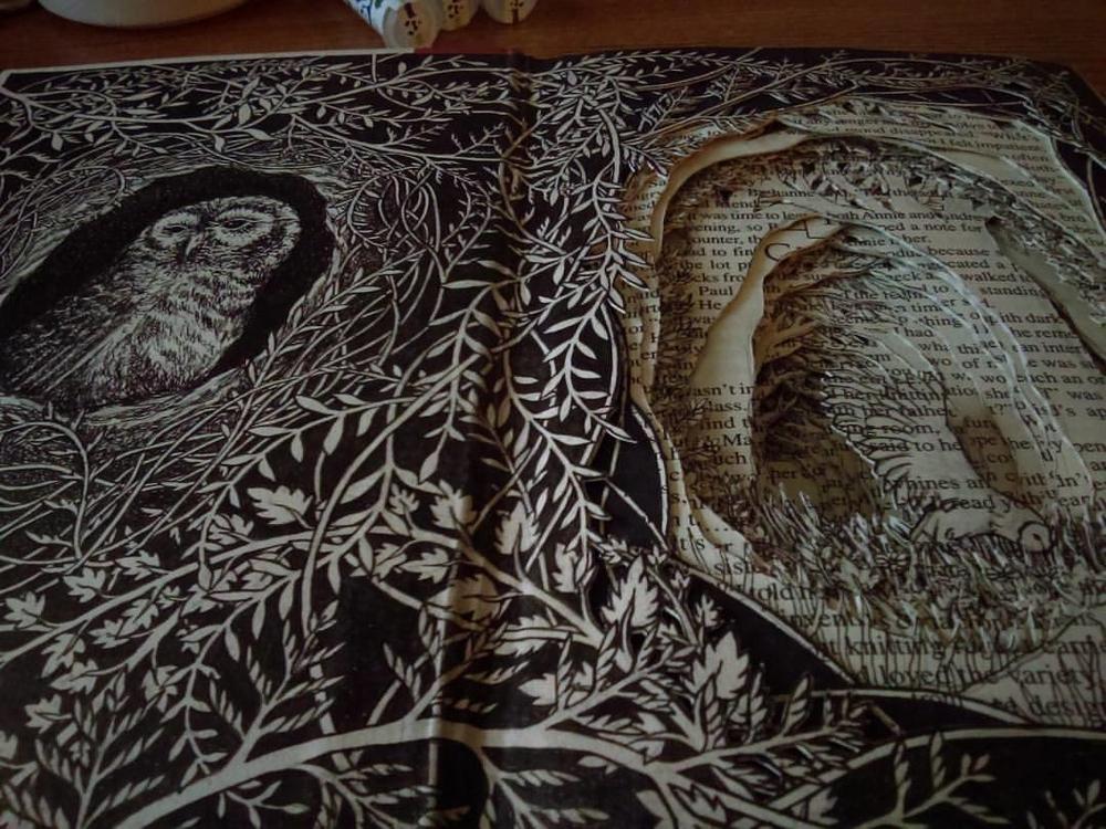 Isobelle Ouzman создаёт удивительные многослойные композиции, вырезанные из старых книг, фото № 49