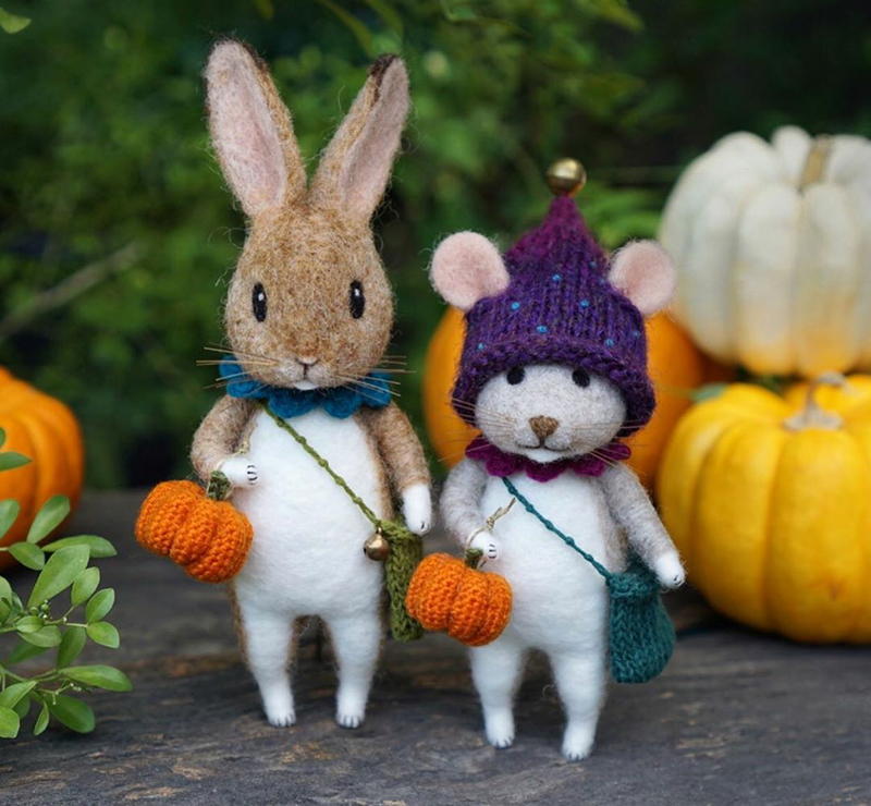 Mouse Stories: Adorable Felted Toys By Little Wool Tails, фото № 12