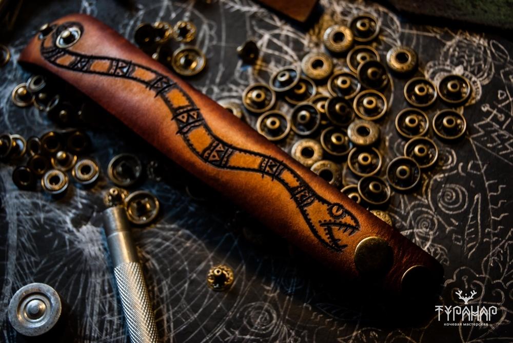 Процесс создания рисунка на коже в стиле Туранар, фото № 13