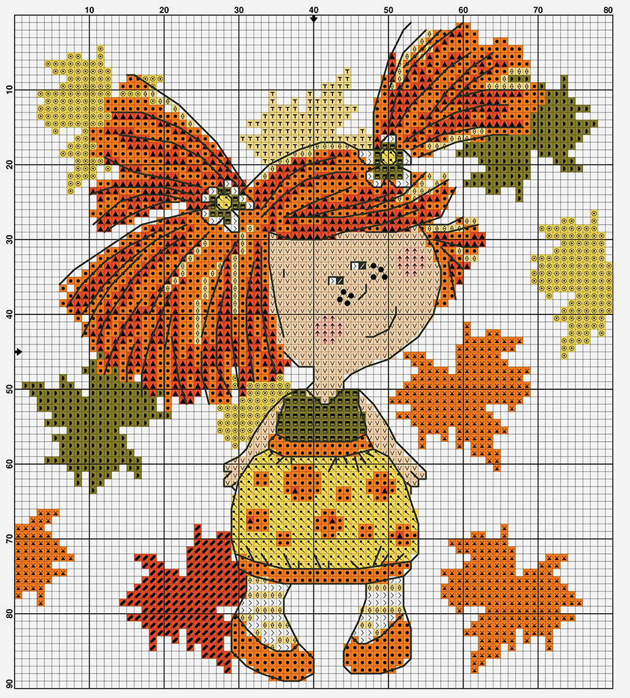 In Love With Autumn: 50+ Cross Stitch Patterns, фото № 2