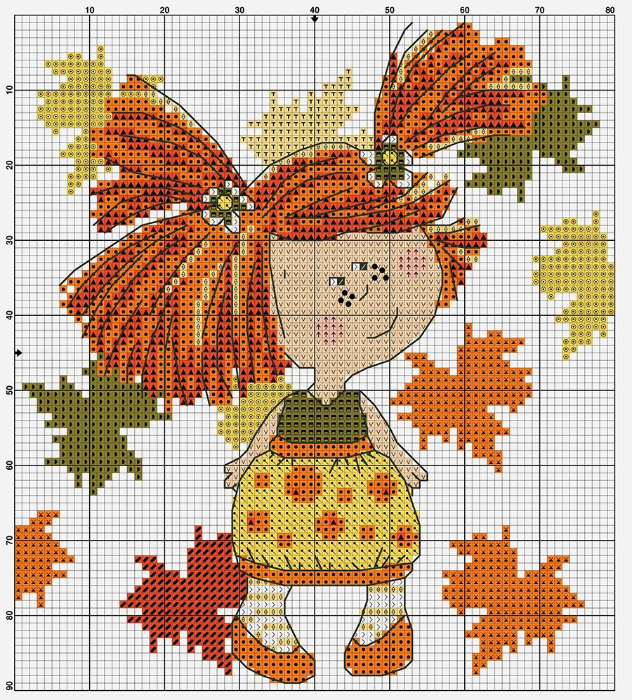 Влюбленные в осень: 50+ схем для вышивки крестиком, фото № 2