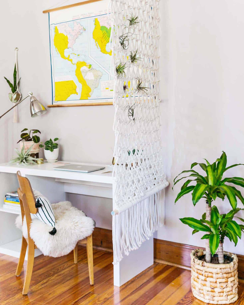 Tangled Story: 35 Ideas of Macrame in Interior, фото № 14