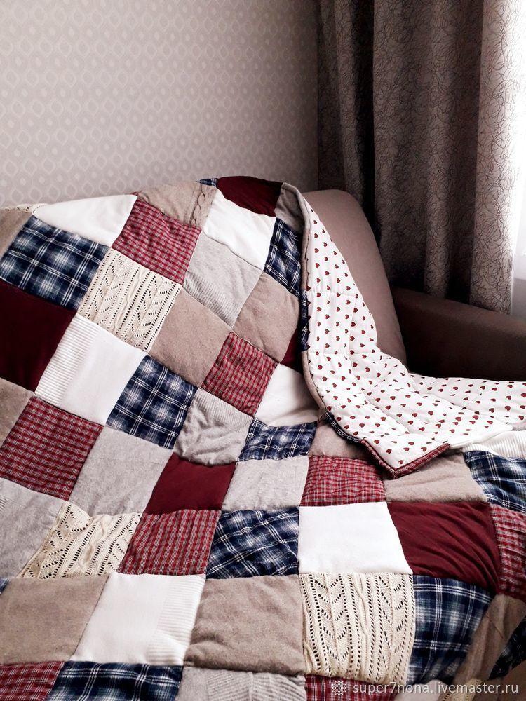 Лоскутный плед из старых любимых вещей своими руками, фото № 8