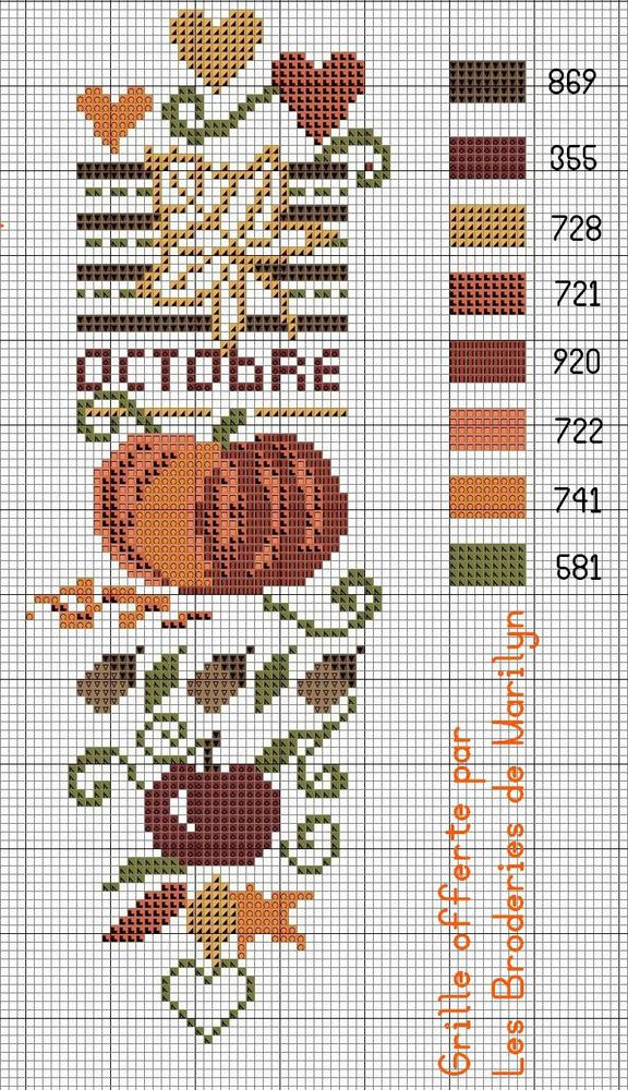 Влюбленные в осень: 50+ схем для вышивки крестиком, фото № 40