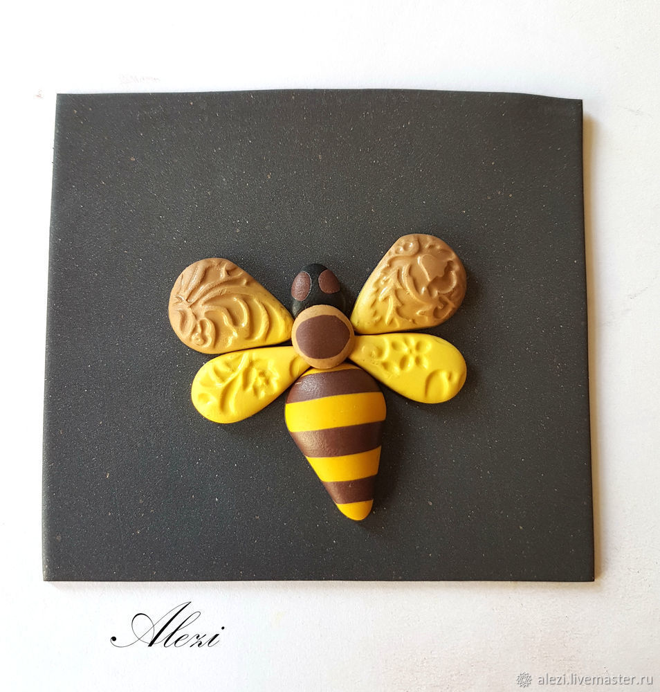 Creating Bee Brooch from Polymer Clay, фото № 9