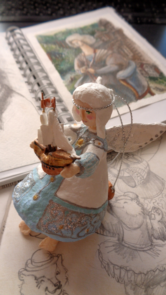 Как создать Ангела-хранителя полетов из ваты, фото № 3