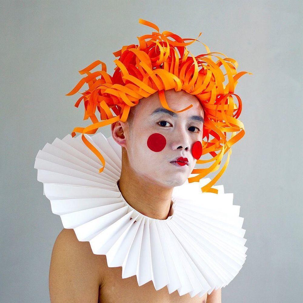 Повелитель бумаги inus ui создаёт маски и костюмы из цветного картона, фото № 10