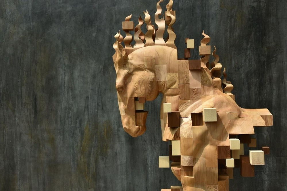 Striking Wooden Sculptures By Hsu Tung Han, фото № 27