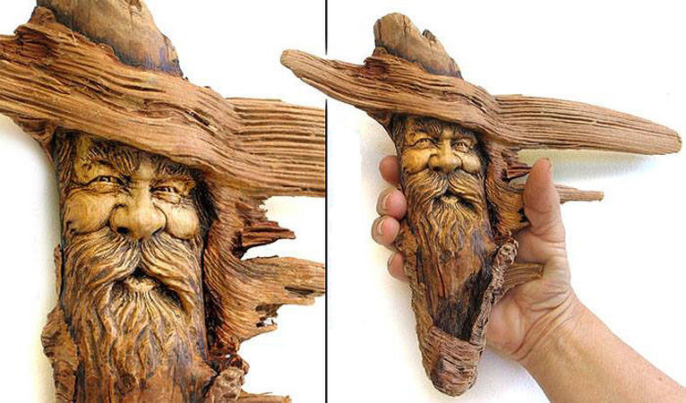 Нэнси Татл превращает коряги и обломки деревьев в сказочные деревянные скульптуры, фото № 13