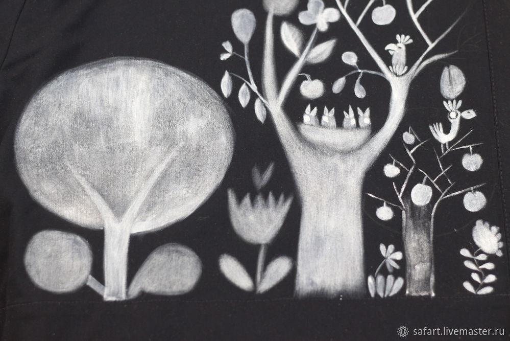 Переделываем скучное платье с помощью росписи, фото № 7