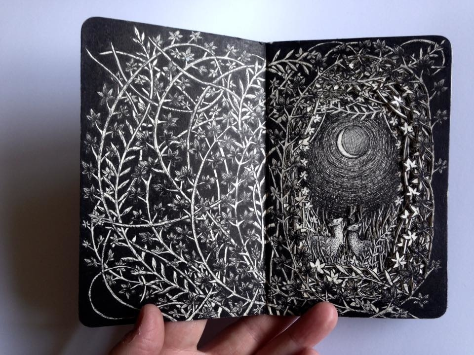 Isobelle Ouzman Creates Amazing Multi-Layered Compositions Cut Of Old Books, фото № 39
