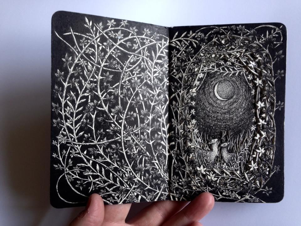 Isobelle Ouzman создаёт удивительные многослойные композиции, вырезанные из старых книг, фото № 39
