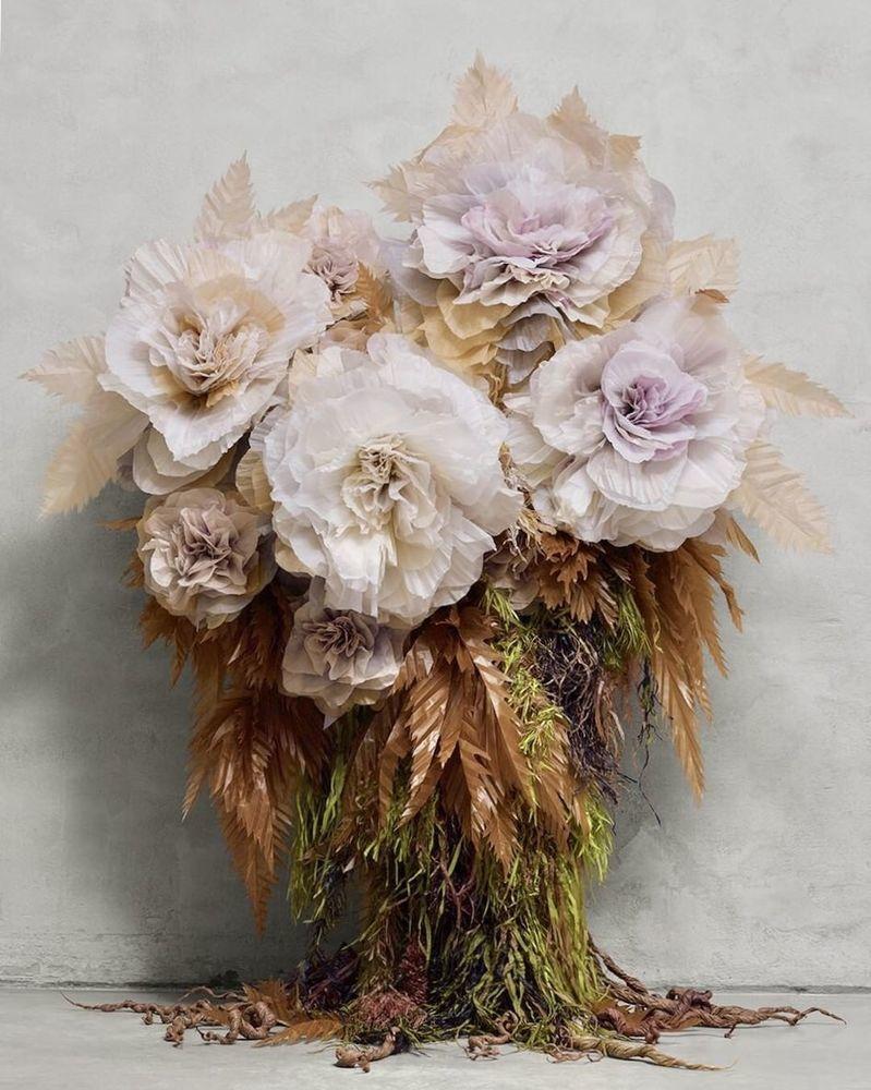 Потрясающие бумажные цветы датской художницы arianne riksen-cott ansen, фото № 15