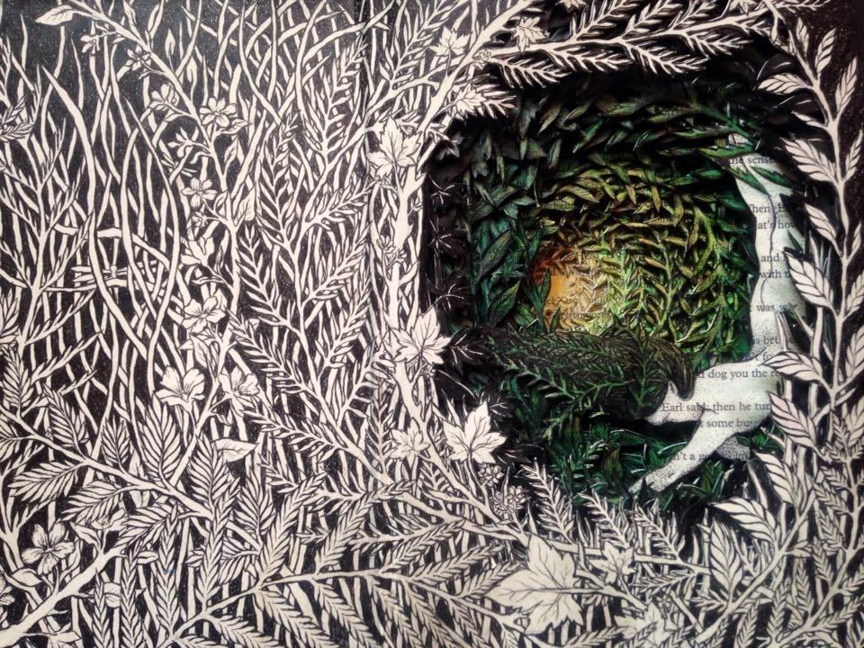 Isobelle Ouzman создаёт удивительные многослойные композиции, вырезанные из старых книг, фото № 30
