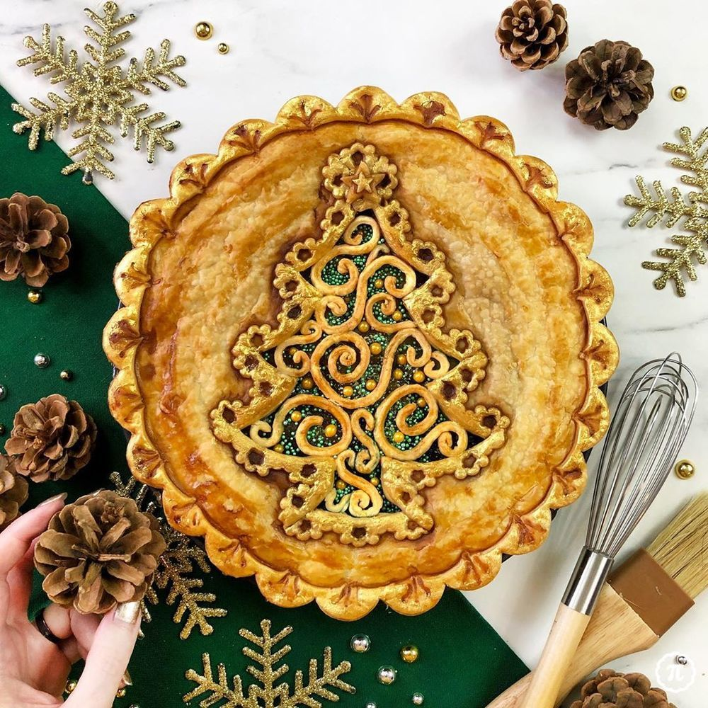 Self-Taught Cook Named Jessica Bakes Christmas Pies — And They Are Gorgeous!, фото № 3
