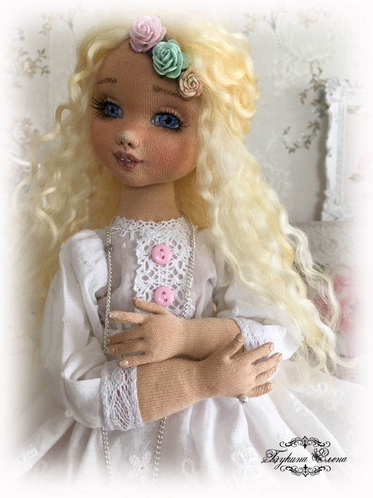 коллекционная кукла, кукла-болтушка, скульптурный текстиль.