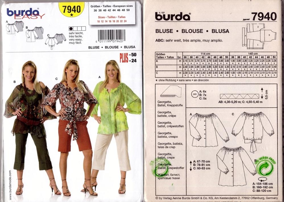 Выкройки из журнала  «Burda Moden», фото № 3