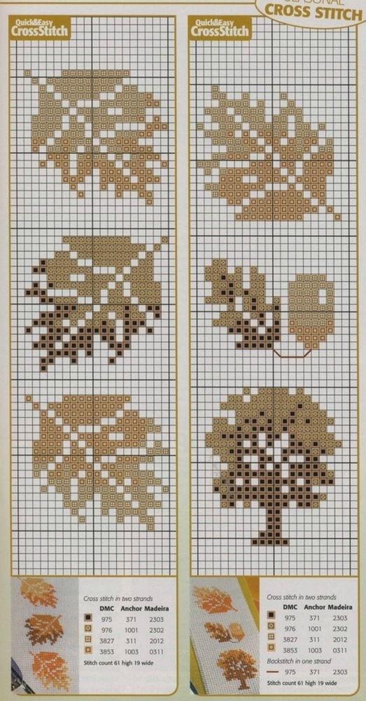 Влюбленные в осень: 50+ схем для вышивки крестиком, фото № 49