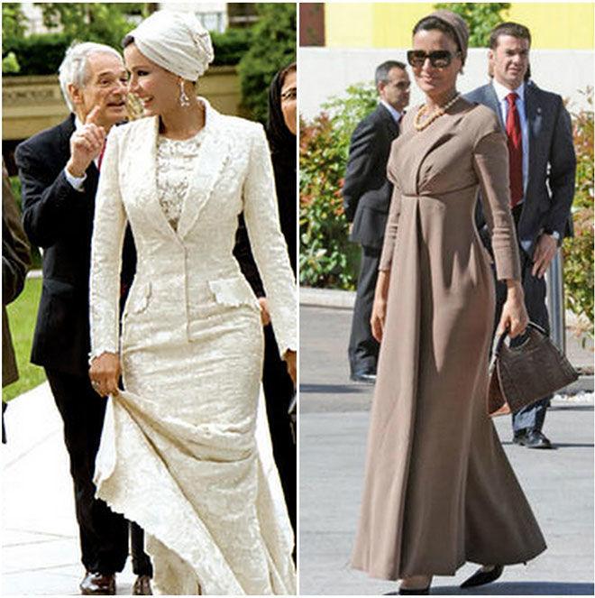 Самая модная женщина Востока. Так называют Шейху Мозу. Ее наряды и утонченный стиль, фото № 8