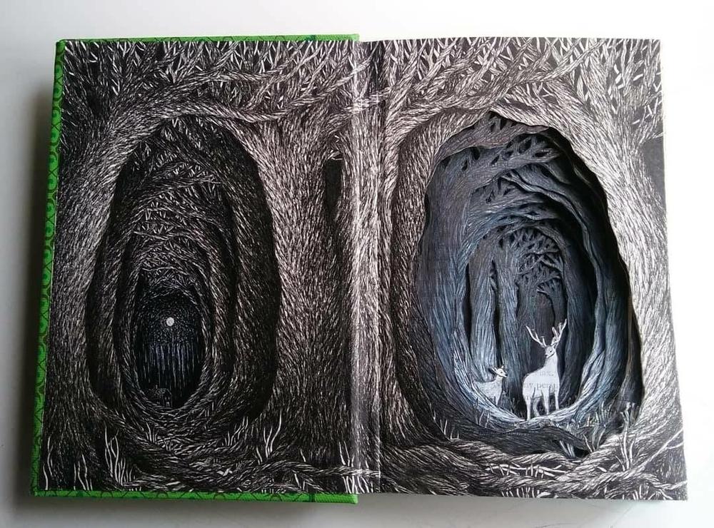 Isobelle Ouzman создаёт удивительные многослойные композиции, вырезанные из старых книг, фото № 22