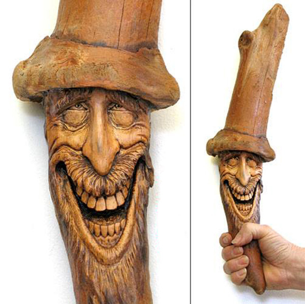 Нэнси Татл превращает коряги и обломки деревьев в сказочные деревянные скульптуры, фото № 30