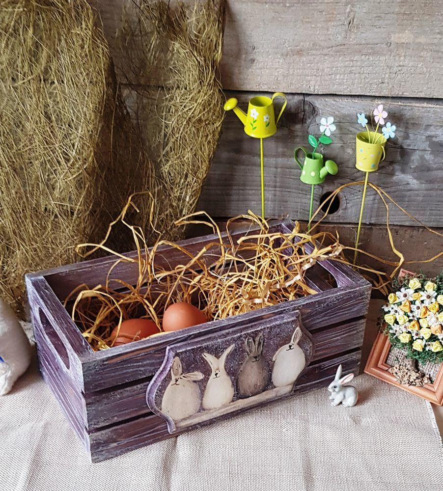 Сосновый ящик в стиле  «Прованс», фото № 6