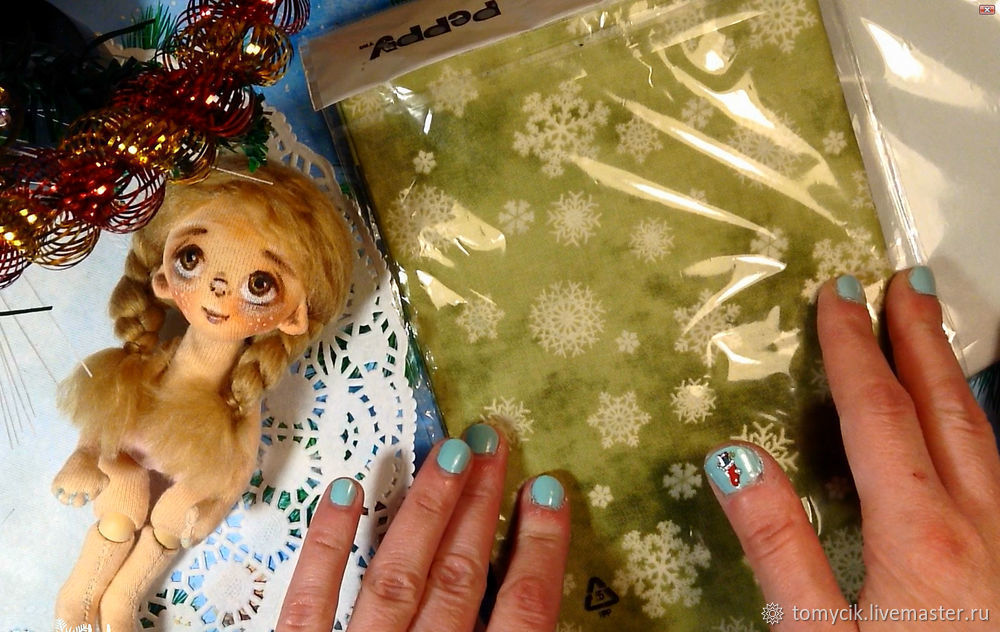 How To Sew Dress For Textile Doll, фото № 2