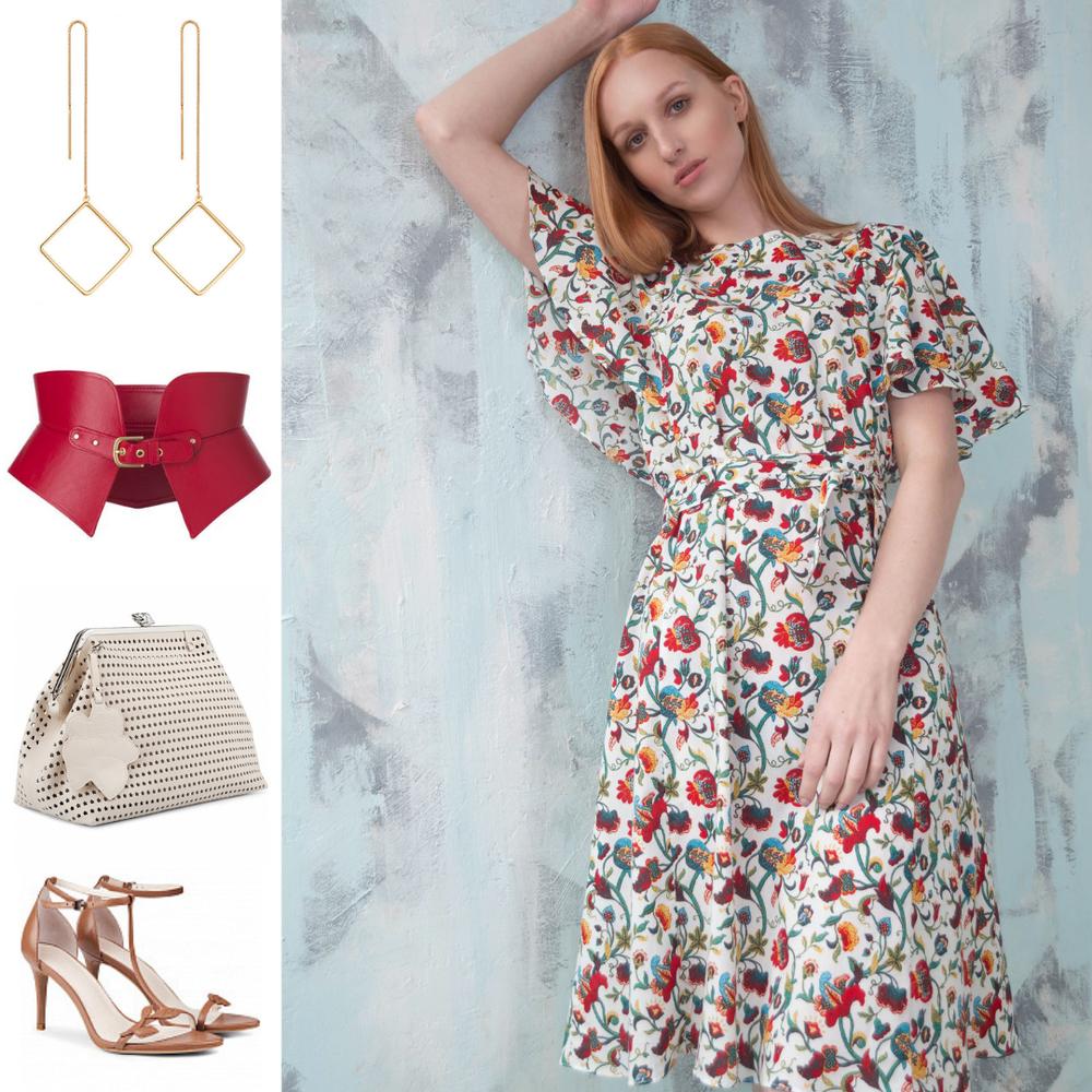 летнее платье, модный образ
